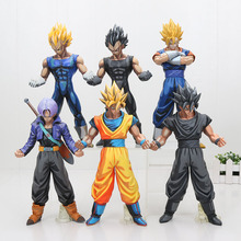 26cm Dragon ball Z Figure MSP Master Stars Piece Vegeta Trunks vegetto Son Goku black chocolate goku PVC Action Figure Toy