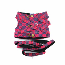New Design Dog Harness Pet Vest Teddy Traction Rope Puppy Leash One Set Puppy Harness 4 Color 3 Size Dog Clothes