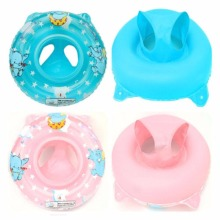 Baby Swimming Float Ring Inflatable Kids Safety Swimming Pool Accessories Blue/Pink