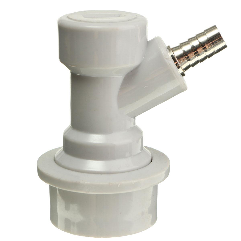 Mayitr 1/4'' Homebrew Beer Keg Connector Dispenser Ball Lock Keg Disconnect Liquid Gas Connectors Straight Mouth Threaded Mouth