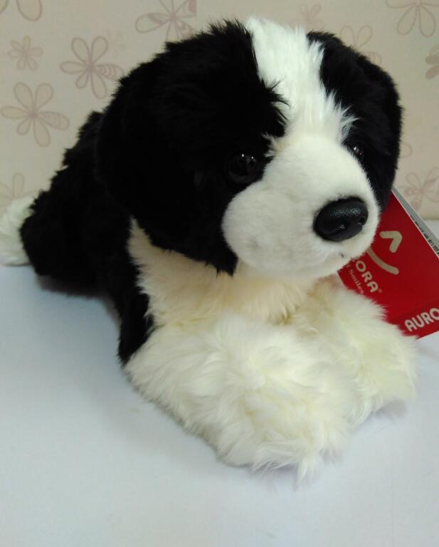 Border Collie Doll ChildrenS  Plush Toys Gift Lying Dog  Dolls  Simulation Animal Car Decoration <br>