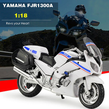 New Arrival 1/18 Motorcycle Diecasts Model Yamaha FJR 1300A Police Racing White/Black/Blue Collections for Gifts and Decoration