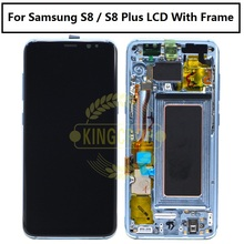 100% Original Work S8 LCD Screen For Samsung S8 S8 Plus G950 G955 Lcd with frame Display Touch Screen Digitizer Assembly Phone(China)