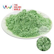 TCZG435 Apple Green Color Pearlescent pigment,pearl luster pigment,Mica Powder DIY  Makeup Nail Design ,Nail Polish