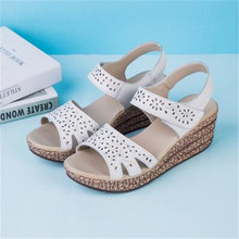 2017 Summer shoes women Fretwork Carving Swing Wedges Platform Women Sandals Female gladiator sandals women Shoes woman 35-40