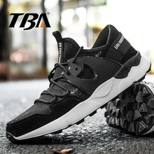 TBA Retro Men's Sneakers Breathable Air Mesh Running Shoes Lace Rubber Wedge Winter Sneakers Lace-Up New Black Men's Sport Shoes