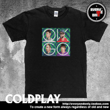 Coldplay Alternative rock Band OK GO Four Face Cotton T-shirt Tee T Clothing