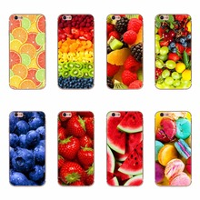 Luxury Delicious Watermelon Strawberry Orange Strawberry Fruit Patterns Soft Silicone TPU Cases Covers For iPhone 6 plus 7 plus