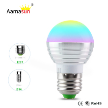 E27 RGB Led Lamp Bulb AC110V 127V 220V E14 LED Light RGB 5W Spot Light 16 Color Change Dimmable Lampada Led Luz + Remote Control