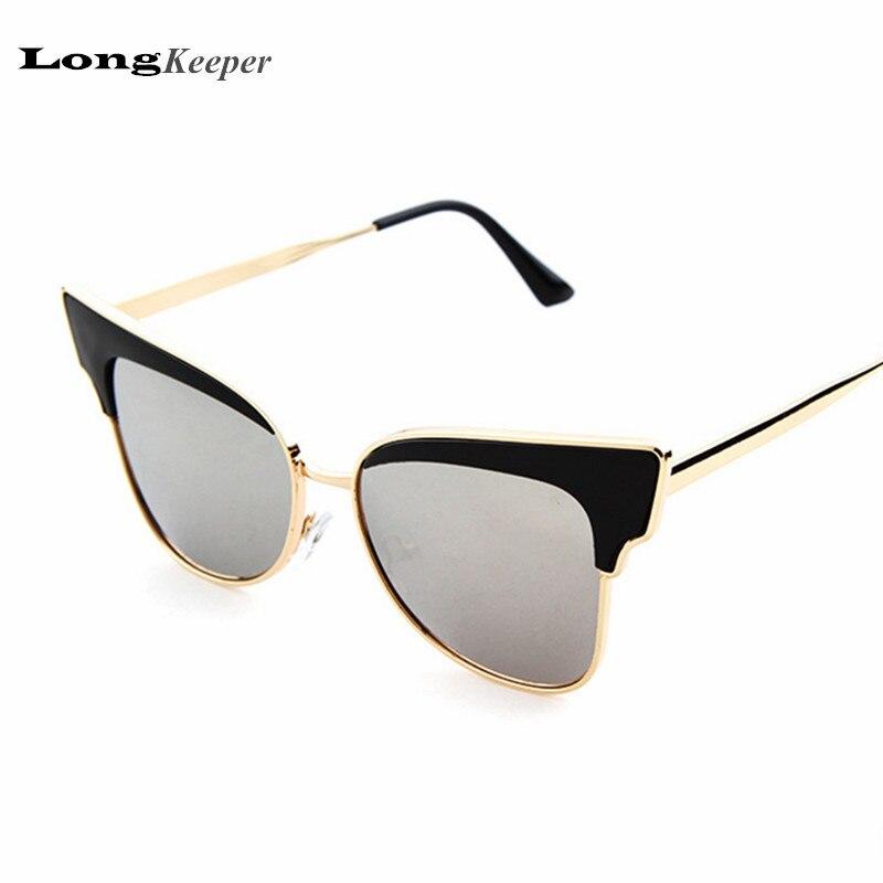 Queen Style Semi Rimless Sunglasses for Women 2016 Brand Design Mirror 45mm Small Size Sun glasses UV400 Cat Eye Eyeware LKP3629<br><br>Aliexpress