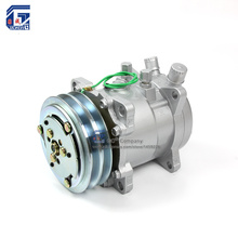 A/C AC Air Conditioning Compressor SD507 5H11 12V / 24V 2A V Belt Pulley Tractor Excavator Heavy Duty Truck Pickup Universal(China)