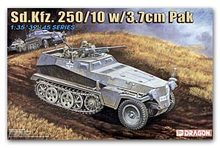 1/35 scale model Dragon 6139 Sd.Kfz 250/10 semi-track armored vehicles equipped with 3.7cm warfare(China)