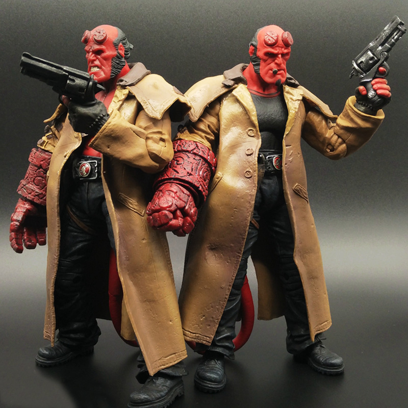 2Styles MEZCO Hellboy with Cigar Variant Samaritan PVC Action Figure Collectible Model Toy 7 18cm<br><br>Aliexpress