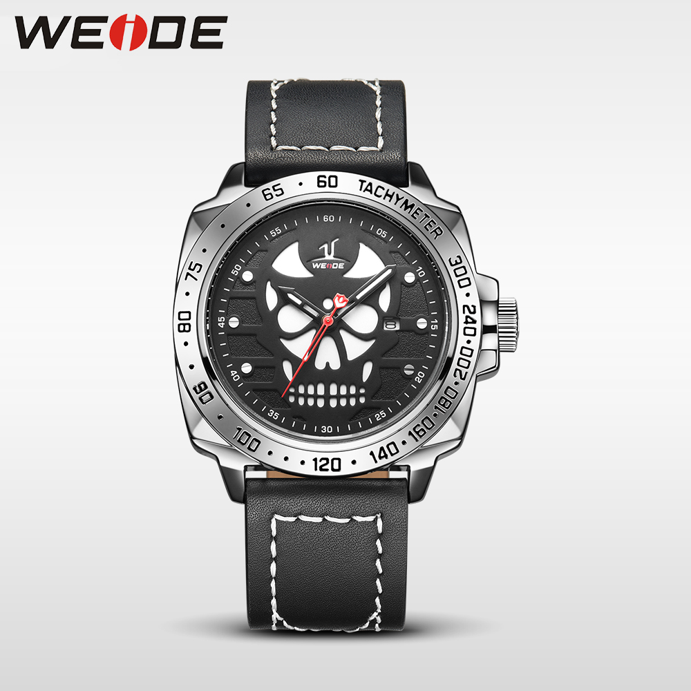 WEIDE analog quartz sports wrist watch casual genuine electronic wrist watch leather strap role luxury watch men water resistant<br>