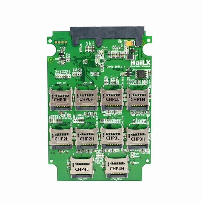 10 x Micro SD T-flash TF Memory Card to SATA SSD Connector Adapter Adaptor Card with RAID Quad 2.5 Inch SATA Converter<br>