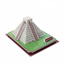 Medium Size  3D Paper Puzzle DIY TOYS   Maya Pyramid Model  C073H  for  children gift