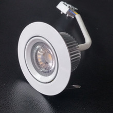 100pcs Dimmable 7W HV COB Driver-free White Down Light AC200-240V Indoor Home Kitchen Driverless LED Downlighters Wholesale
