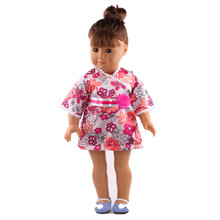 Lovely pink leisure dress for 18inch American girl doll the best birthday present in the United States b767