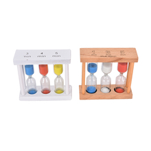 1Pcs  2 Colors Mini Wooden Frame Glass Sand Sandglass Hourglass Timer Clock Time Gift Decor