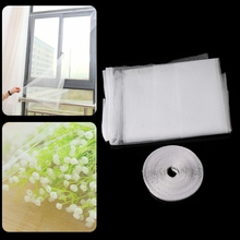 Mesh Window Magic Curtain Snap Fly Bug Insect Mosquito Screen Net
