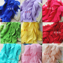 1 yards Leaves 3D Chiffon Flower Lace Sewing Trims Fringe Lace Ribbon Bow accessories DIY Material