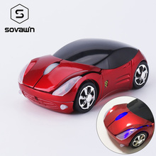 Sovawin Mini Rechargeable Flash LED 1200 DPI 2.4G Mini Wireless Mouse Car Shaped Mause USB Optical Mice for PC Laptop Computer