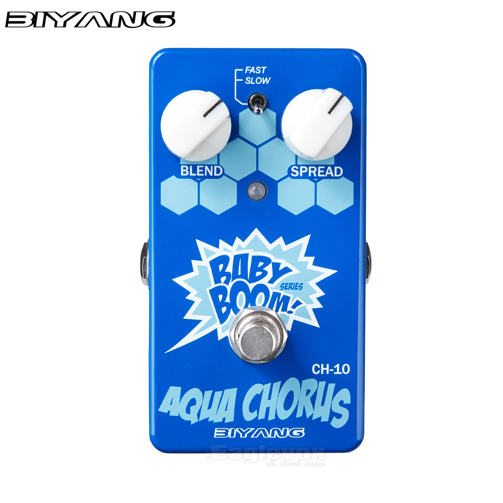 Biyang Aqua Chorus Guitar Effect Pedal with Clean Natural Warm Tone Analog Effects Stompbox for Electric Guitar Baby Boom CH-10<br>