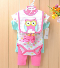Baby Gear 5-pieces Suits Baby Bodysuits Bibs Socks PP Pants Clothing Sets Retail Top Quality