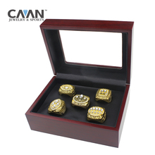 Drop shipping 5 pcs/set Charms Sports jewelry San Francisco 49ers 1981 1984 1988 1989 1994 Super Bowl Championship Rings set(China)