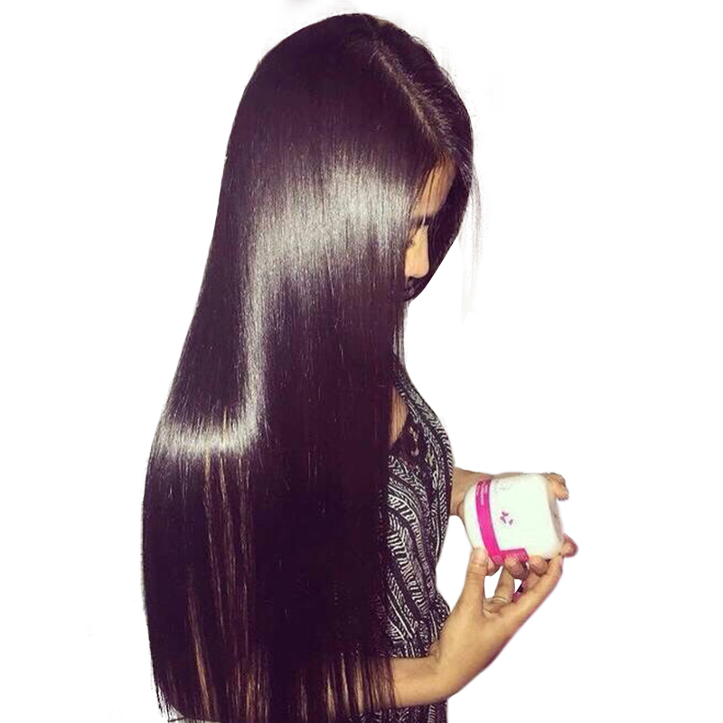 Wigs Glueless Full-Lace Human-Hair Women Transparent Straight for 130-% Brazilian Pre-Plucked title=