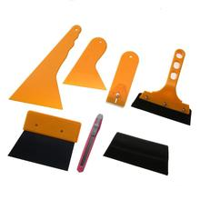 VODOOL 7pcs Auto Car Window Scraper Wrapping Film Application Squeegee Tools Kit Car Brush Cleaning Tool Car Accessories(China)