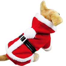 Pet Puppy Dog Christmas Clothes Santa Claus Costume Outwear Coat Apparel Outwear Pet Christmas Coat Red