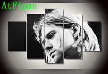 AtFipan Large HD Kurt Cobain Modular Poster Hot Sale Modern Painting on Canvas Cuadros Decoracion Wall Pictures For Living Room(China)