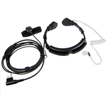 Security Throat Microphone Mic Headset Headphone PTT for Motorola Walkie Talkie Portable Radio GP300 EP450 CP040 Ham Radio CP200