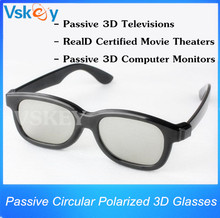 5pcs Passive Cinema Circular Polarized 3D Glasses For Passive 3D Televisions RealD Movie Real 3D Theaters 3D TV Cinema System