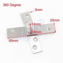 360 Degree Stainless Steel Door Pivot Hinges 95mm x 20mm 2PCS
