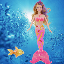 Free Ship New Fashion Doll Magic Mermaid Doll Girls Toys Anime Classic Toys Birthday Gift Christmas gift Withno Box