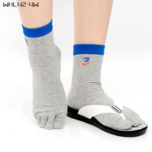 WHLYZ YW 10pieces=5pairs=1lot cotton toe socks men USA style five fingers socks boy male good quality Five Finger Toe Socks