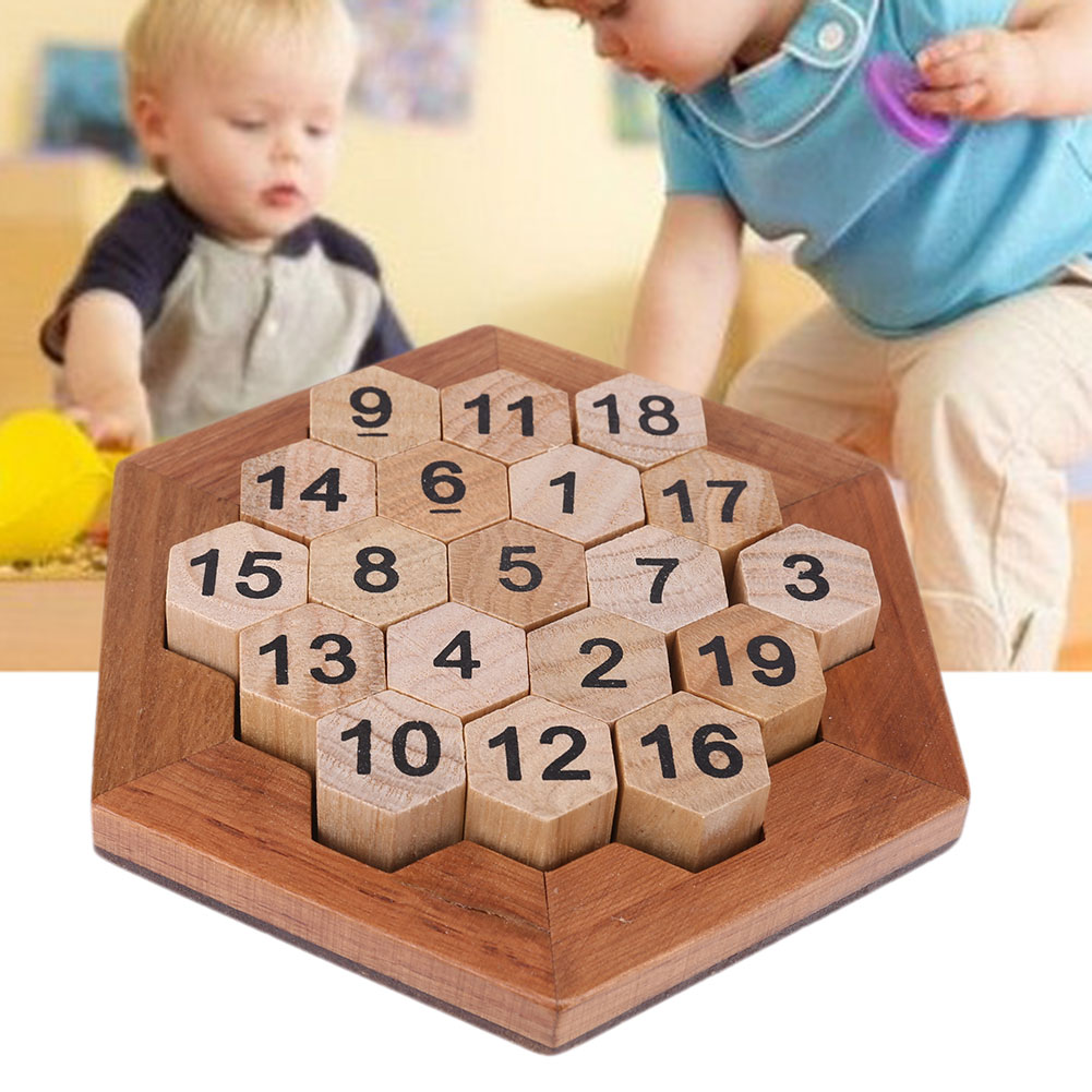 c4cdd5f64ac6 Click here to Buy Now!! Children Wooden Number Board Kid Brain Teaser Math  Game Montessori Educational Plate Toy Kid Intellectual Learning Teaching  Aids