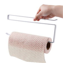 Paper Roll Holder Iron Paint Hang Towel Tissue Preservative Film Rack Kitchen Bathroom Toilet Wardrobe Door Hook Holder(China)