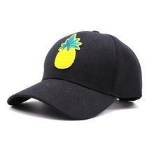 2017 Most Popular Pineapple Baseball cap Women Men Casual Dad Hat Snapback hip hop caps Adult Summer sun hat Bones Gorras JY-396
