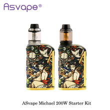 New Original ASvape Michael 200W Mod With ASvape Cobra RTA DIY/TC/VW/Bypass Electronic Cigarette Fashion USA Vape Vaporizer Mod(China)