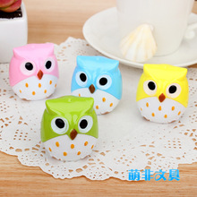 Kawaii Owl Pencil Sharpener Cutter Knife Promotional Gift Stationery four colour Blue, green, yellow, pink(China)