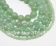 Hot Sale 4 6 8 10 12 14mm Natural Green Aventurine Round Beads 15.5inch/strand Pick Size Free Shipping-f00117 Aa