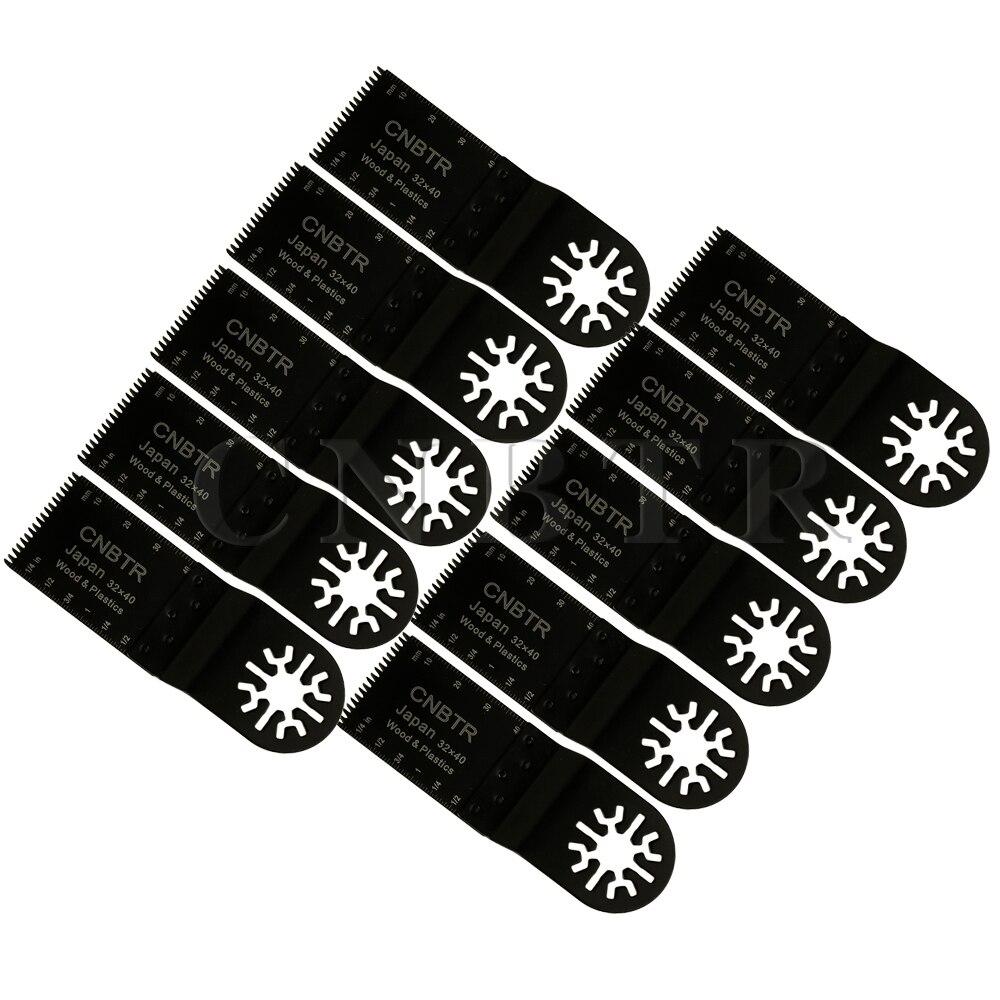 10 x Black Universal 32x40mm Japan Tooth High-Carbon Steel Oscillating Saw Blade<br><br>Aliexpress