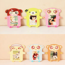 6PCS/lot Cute Decorative Cartoon Wooden Picture Photo Frame Display Photograph Free Shipping(China)
