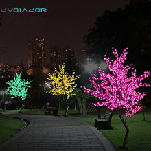 DVOLADOR Holiday Light LED Cherry Blossom Tree Light Luminaria 1.5M 1.8M LED Tree Lamp Landscape Outdoor Lighting for Christmas