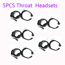 HOT 5pcs Throat Microphone Transparent Flexible Tube Finger PTT Earpiece For WOUXUN Baofeng UV-82 UV-5R Ham Radio MIC Headseat