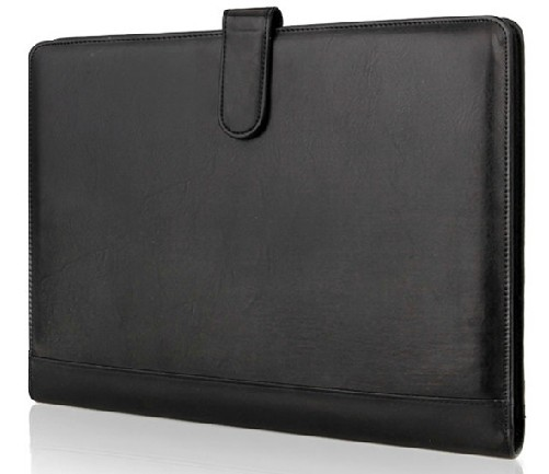 Cowhide A4 Leather Folder wallet Mens PU leather folder man leather lines purse wallet for men whosale with free shipping<br>