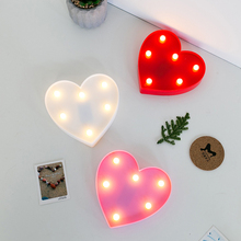 Romantic Heart LED Night Light Bedroom Home Decor Cute Wall Lamp for Boys Girls Kids Couples Bedroom Lamp Decoration Atmosphere